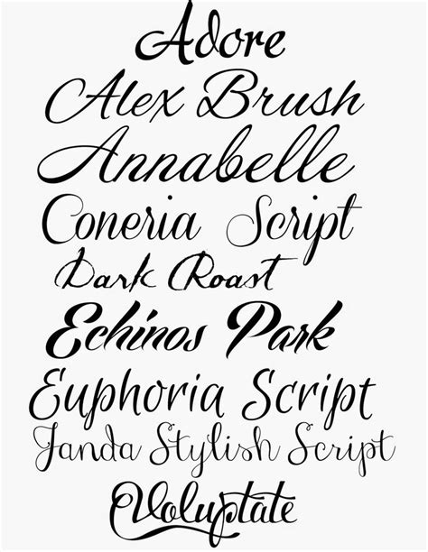 tattoo fonts that look like handwriting how to script calligraphy and 9 gorgeous script