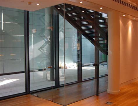 pivot swing door single glazed glass herculite doors avanti systems usa