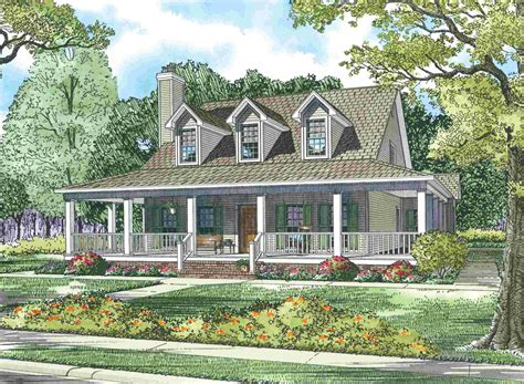 Farmhouse Plans With Wrap Around Porches by Farmhouse Plans Porch