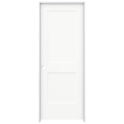 Single Panel Interior Doors White Jeld Wen 30 In X 80 In Smooth 2 Panel Brilliant White Solid Molded Composite Single