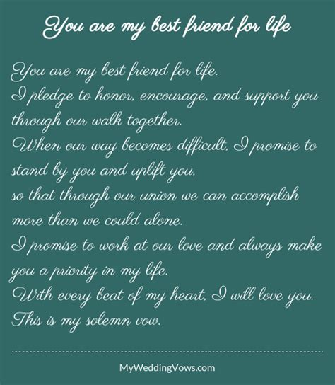 Wedding Blessing Best Friend by You Are My Best Friend For Wedding Vows Wedding