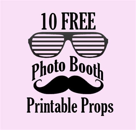 10 free photo booth prop printables! | bespoke bride