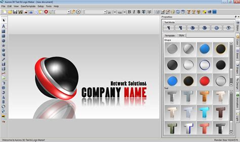 Easy 3d Text Logo Maker Screenshot Aurora3d Software