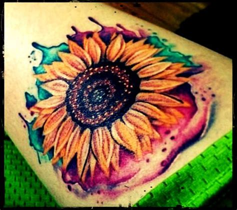 watercolor tattoo vs regular tattoo 25 best ideas about colorful sunflower on