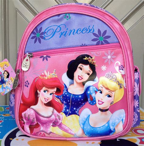 Ransel Kanvas Disney tas anak ransel tk princess ungu
