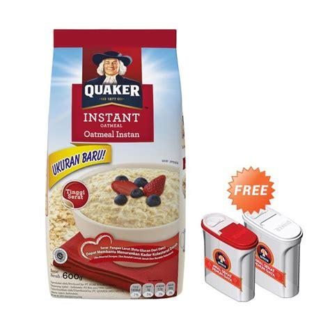 Quaker Oatmeal Instan Membantu Menurunkan Kolestrol 800gr jual quaker instant oatmeal medium pack 600 g free food container harga kualitas