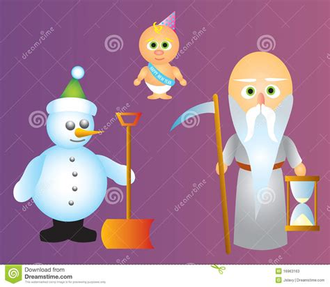 new year in characters new year characters stock photos image 16963163