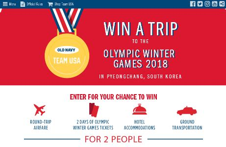 Old Navy Sweepstakes - team usa old navy pyeongchang sweepstakes win a trip to olympic