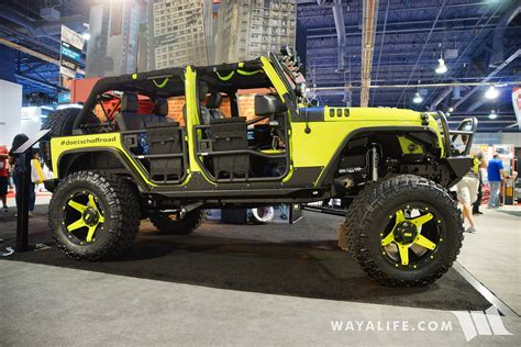 rhino jeep 2016 sema rhino liner infected jeep jk wrangler unlimited