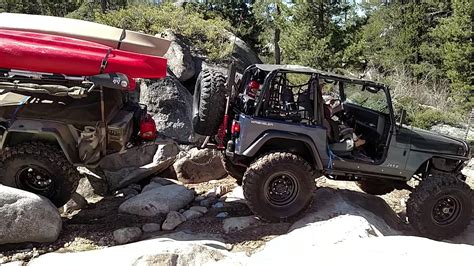 jeep offroad trailer jeep pulling off road trailer down slick rock youtube
