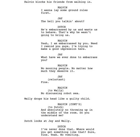 Shooting Script Template Word