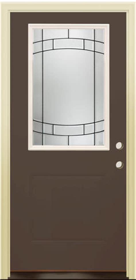 Mastercraft Exterior Doors Mastercraft Sv 106 Burnished Slate Steel 36 Quot X 80 Quot Prehung Exterior Door Left Inswing At Menards 174