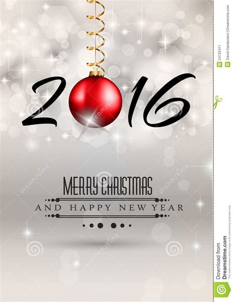 2016 merry chrstmas and happy new year background stock