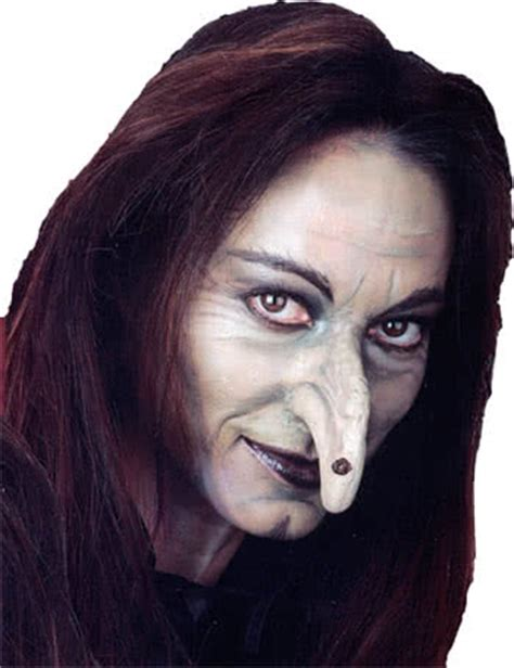 How To Make A Witch Nose Out Of Paper - witch nose with wart applications at an