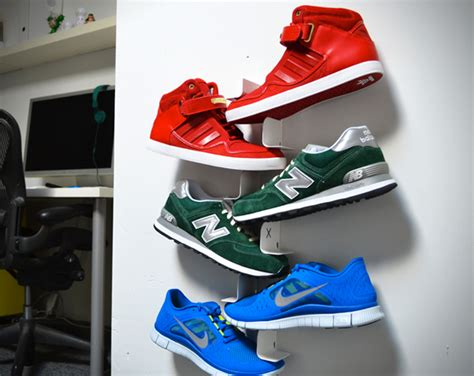 Shoe Rack For High Top Sneakers shrine shoe rack hiconsumption