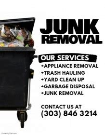 Small Business Flyer Templates Postermywall Junk Removal Flyer Template