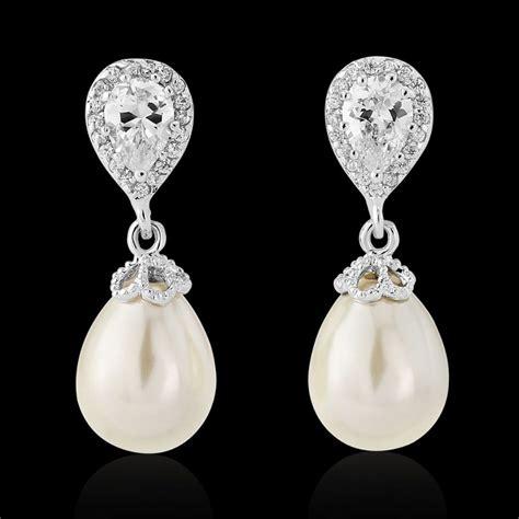 braut ohrringe tropfen pearl drop earrings bridal earrings earrings for brides
