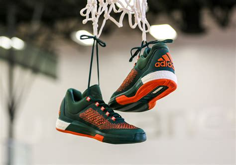 of miami sneakers adidas crazylight boost 2015 miami hurricanes sneaker