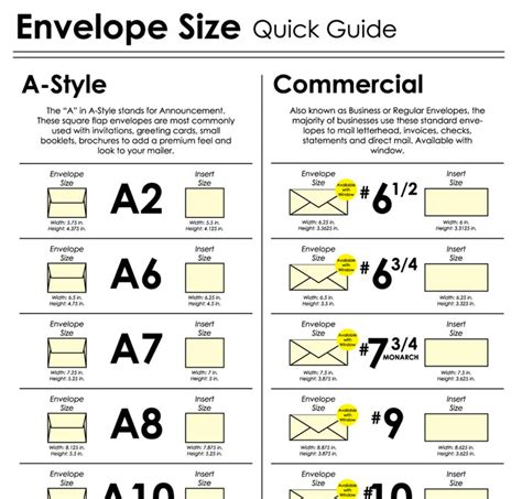 printable envelope size chart 20 diagrams that make print design much easier creative