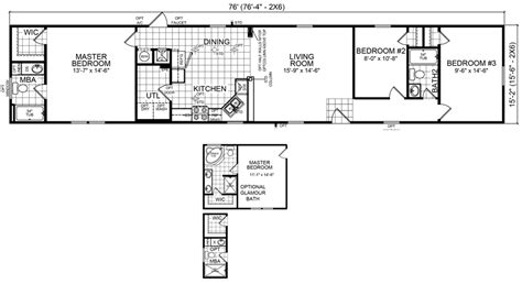 18x80 mobile home floor plans burke 16 x 76 1152 sqft mobile home factory expo home