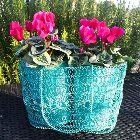 Wire Garden Planters by Wire Crochet Planter By Garden Trading