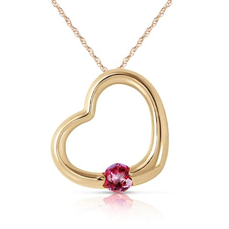 16 Necklace Gold Pink 14k solid gold necklace 16 24 quot w genuine pink