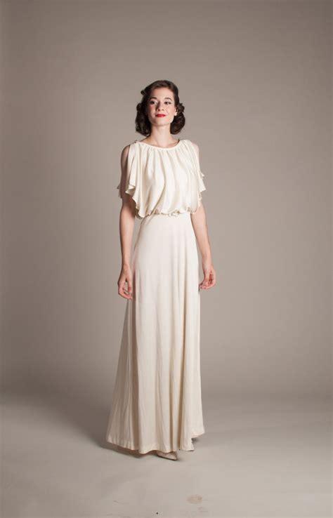 Brautkleider 70er Stil by 1930s Style Wedding Dress Vintage 70s Does 30s Wedding