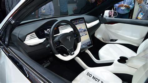 Tesla Suv Interior by Teasing Teslas Model X Suv Previewed Carwow