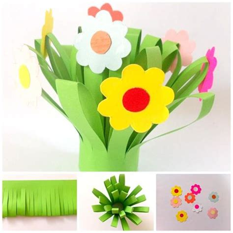 Paper Flower Craft For Preschoolers - paper flower bouquet for related pins and resources