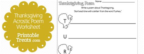 Thanksgiving Acrostic Template by Printable Thanksgiving Acrostic Poem Template Printable