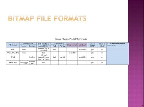 format file bitmap ppt common bitmap image file types powerpoint