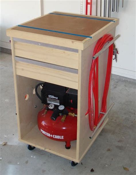 woodworking air compressor compressor bench tool misc crap cabinet by estley