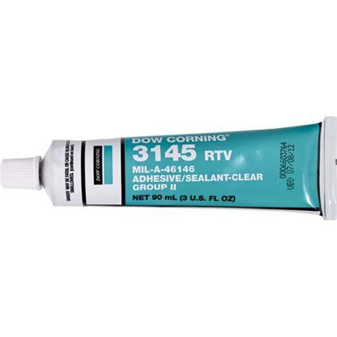 dow corning 3145 rtv mil a 46146 mil a 46146 adhesive sealant clear 3 oz tools