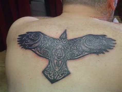 celtic crow tattoo 62 gleaming tattoos on back