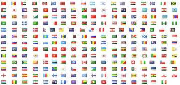 Flags of countries around the world graphics collection my free
