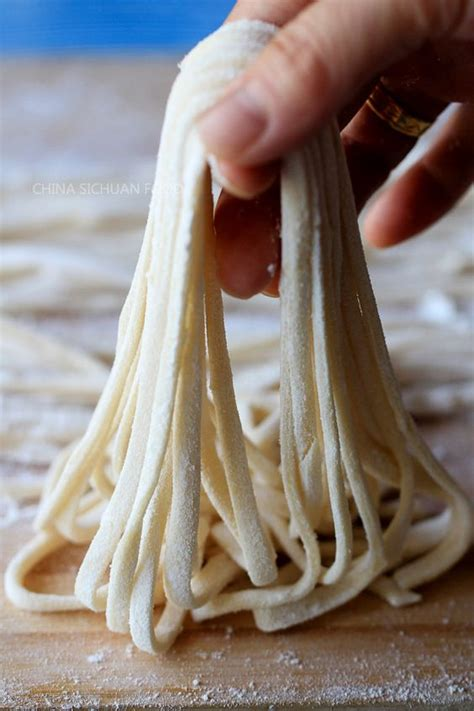 Handmade Egg Noodles - egg noodles and salts on
