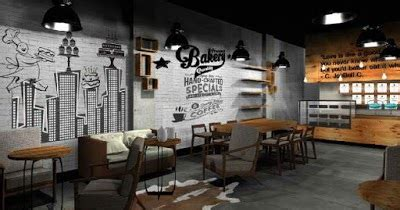 gambar lukisan tembok dinding cafe mural cafe bandung