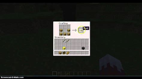 how to make a boat minecraft minecraft how to craft a boat youtube