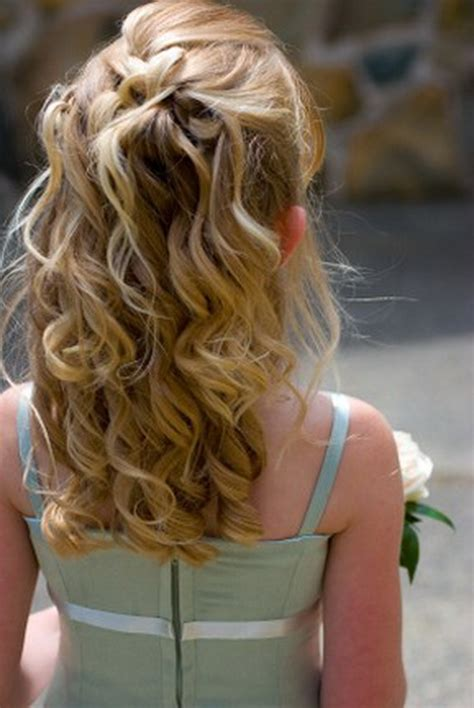 flower girl hairstyles curly hairstyles for a flower girl