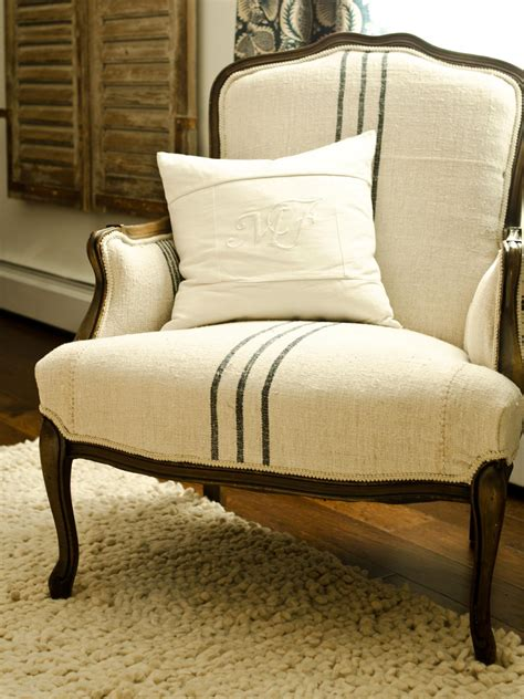 Fabric To Reupholster How To Reupholster An Arm Chair Hgtv