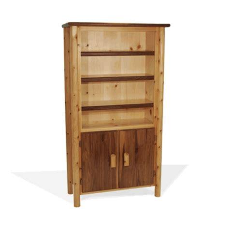 kentucky walnut log bookshelf