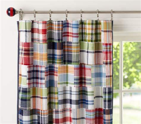 madras shower curtain time to create grandson quilt
