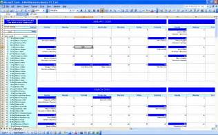 Calendar Of Events Template Excel by Six Monthly Event Calendar Excel Templates