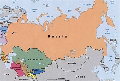2016 map of russia big view interesting facts about russia s sizable