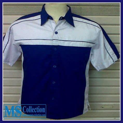 Baju Murah 478 jual seragam kerja putih biru srg11 harga murah
