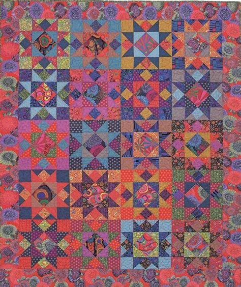Kaffe Quilts Again by Kaffe Fassett Mardi Gras Quilt Kit Pattern By Liza