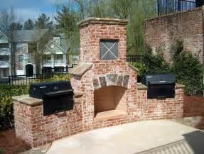 brick fireplace outdoor outdoor brick outdoor fireplace outdoor fireplace ideas