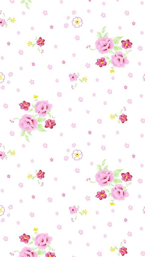 flower pattern lock pink white yellow mini vintage floral iphone phone