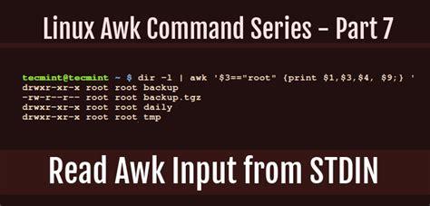 read awk input  stdin  linux part