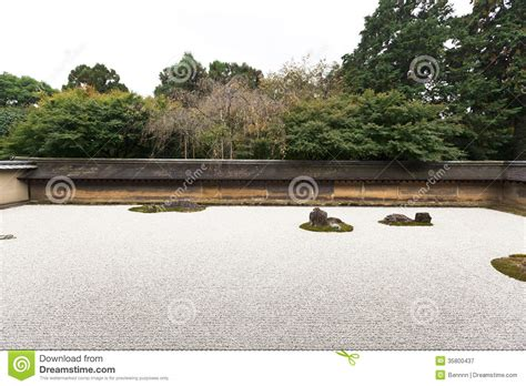Ryoanji Rock Garden Rock Garden In Ryoanji Temple Royalty Free Stock Photography Image 35800437